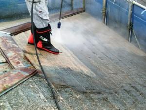 屋根リフォーム_高速洗浄