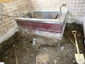 造作浴槽解体