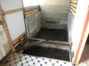 洗面脱衣室解体