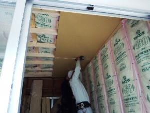 天井ボード施工