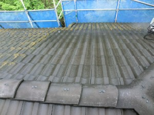屋根 高速洗浄