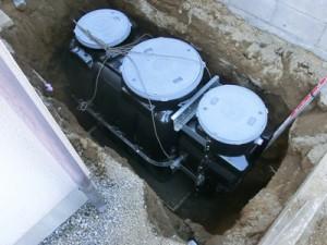 合併浄化槽埋設作業