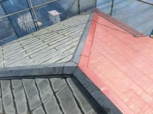 屋根中塗りシリコン塗装