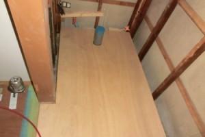トイレリフォームの床下地