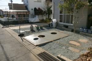 6号砕石施工 浄化槽耐圧補強