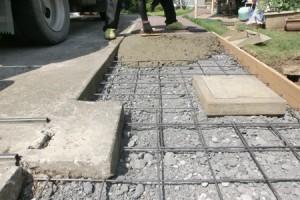 土間コンクリート打込