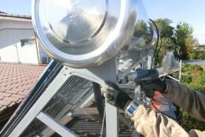 太陽熱温水器架台直し