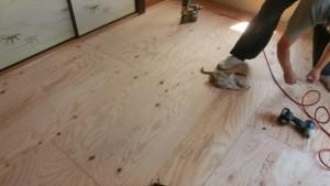 和室床合板補強