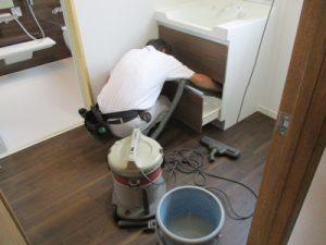 洗面室クリーニング