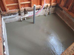 浴室土間コンクリート