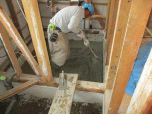 浴室土間コンクリート打込