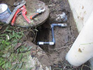 給水管復旧